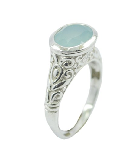 bonny 925 sterling silber ring blau versorgung chalcedon 60 - Bonny 925 Sterling Silber Ring blau Versorgung Chalcedon 60