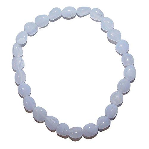 chalcedon armband aus polierten kleinen edelsteinen ca 5 8 mm auf elastischem band schoene hellblaue farbe 3574 - Chalcedon Armband aus polierten kleinen Edelsteinen ca. 5 - 8 mm , auf elastischem Band, schöne hellblaue Farbe.(3574)