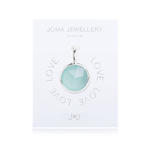 joma jewellery charm blau chalcedon kristall silber charme - Joma Jewellery–Charm–Blau Chalcedon Kristall Silber Charme