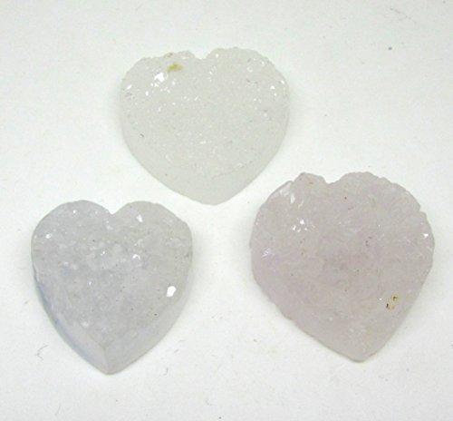 kristalliner chalcedon in herzform 30 x 30mm in der farbe weiss mit bohrung diy vom bastel express - Kristalliner Chalcedon in Herzform 30 x 30mm in der Farbe Weiß mit Bohrung DIY vom Bastel Express