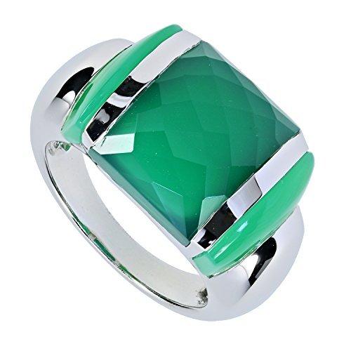 la luna design damen ring sterling silber 925 rhodiniert chalcedon gruen rw20 - La Luna Design Damen-Ring Sterling-Silber 925 rhodiniert Chalcedon grün RW20